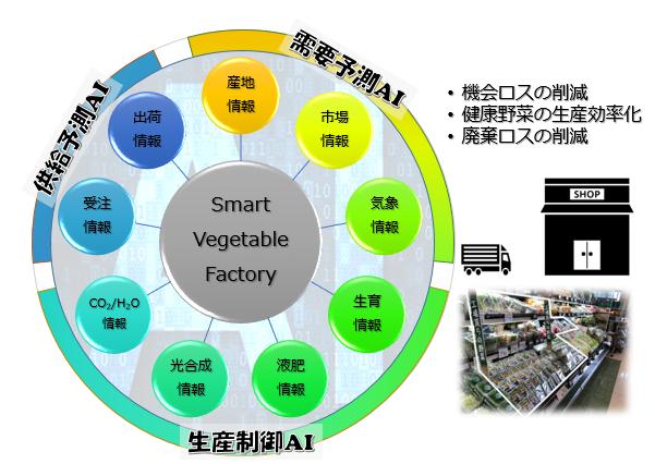 市場連動型AI野菜工場の自動最適制御技術の開発